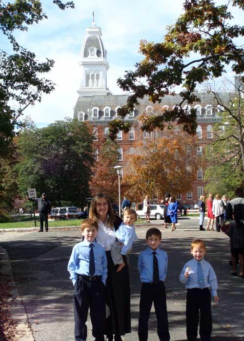 My boys on campus