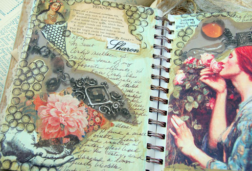 Sharon's journal pages