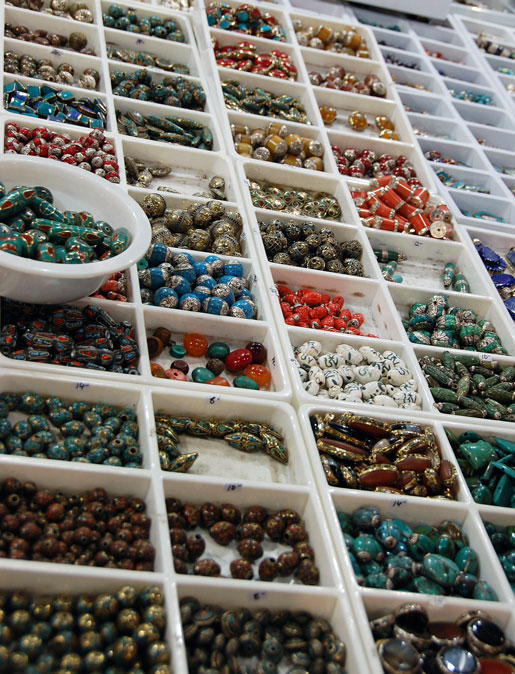 An incredible selection of Tibetan capped beads