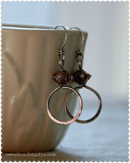 And Lastly If You Can Create A Simple Loop Make These Two Tone Earrings