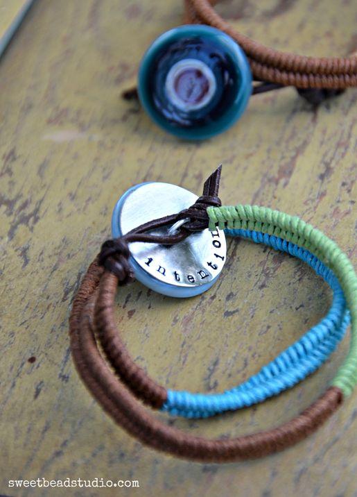 WellnessWordsChallenge - Herringbone weave bracelet with cabachon - Cindy Wimmer_opt