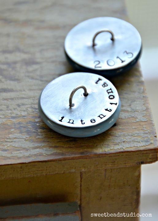 WellnessWordsChallenge - lampwork cabachon buttons by Cindy Wimmer