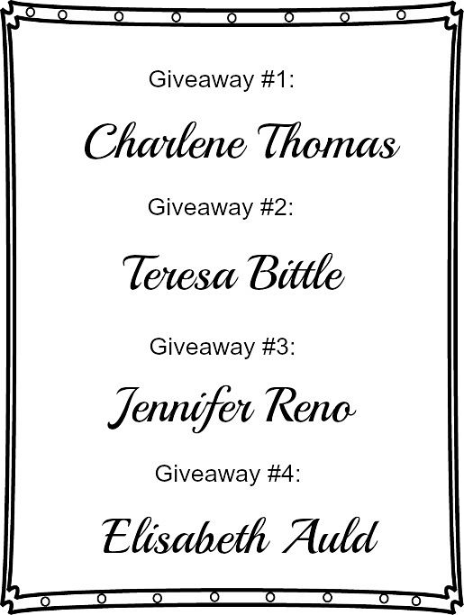 Announcing the artBLISS give away winners!