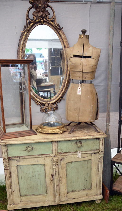 Dress form and dresser from Lucketts