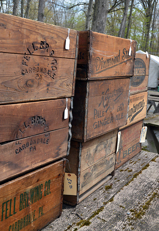 Old wooden crates at Shupp's Grove, PA