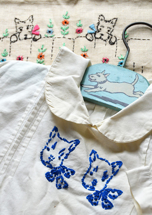 Vintage Scottie Embroidery
