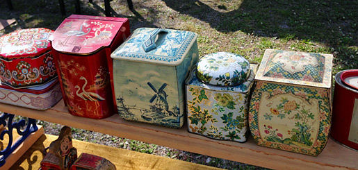Vintage Tins at Schupp's Grove Flea Market