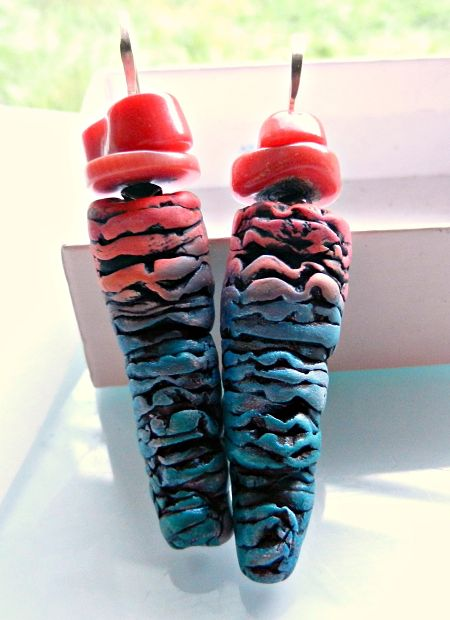 Coral Reef earrings by Christine Damm