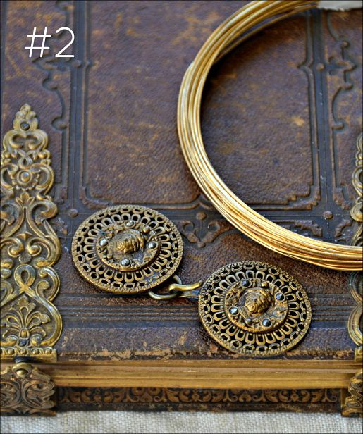 The Missing Link giveaway - antique buckle and wire