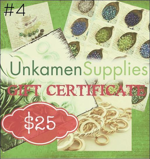 Unkamen Supplies gift certificate