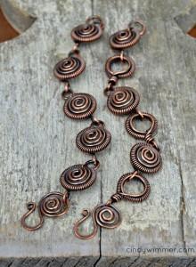 Wirework bracelet by Cindy Wimmer