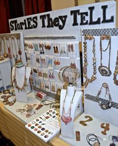 Jewelry display by Christine Damm