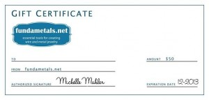 fundametals gift certificate for artBLISS