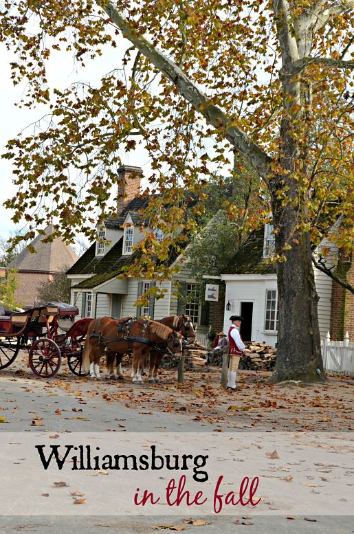 Colonial Williamsburg in the Fall