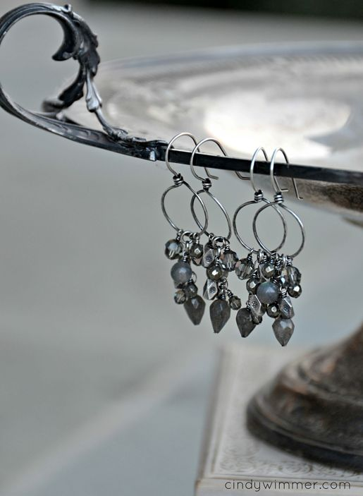 Iolite cascade earrings by Cindy Wimmer