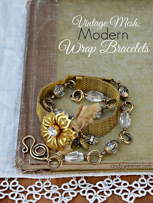 Vintage Mesh Modern Wrap Bracelets - Cindy Wimmer