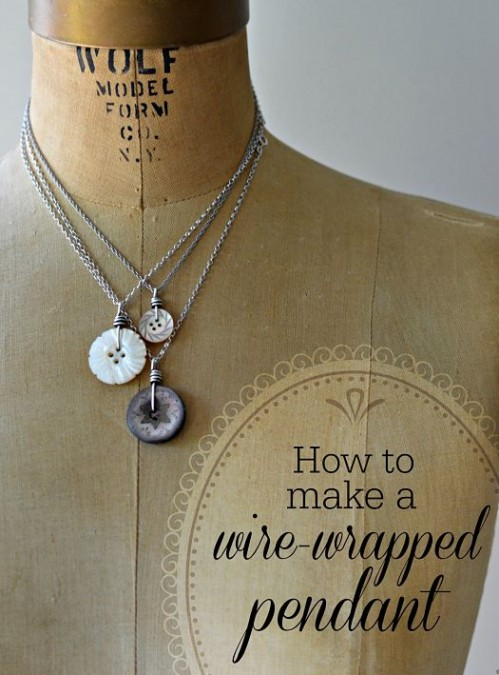 Craftsy tutorial how to make a wire wrapped button pendant wire wrapped button pendant tutorial aloadofball