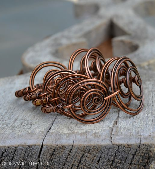 Twin Twirl wire bangles by Cindy Wimmer