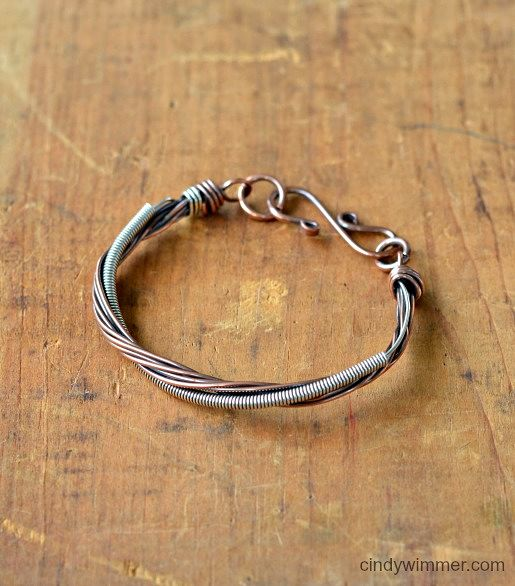 Coiled wire bracelet by Cindy Wimmer