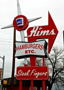Vintage burger sign in Waco, TX