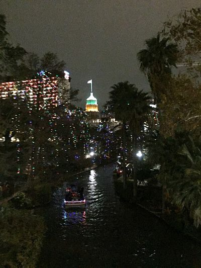 The Riverwalk at night