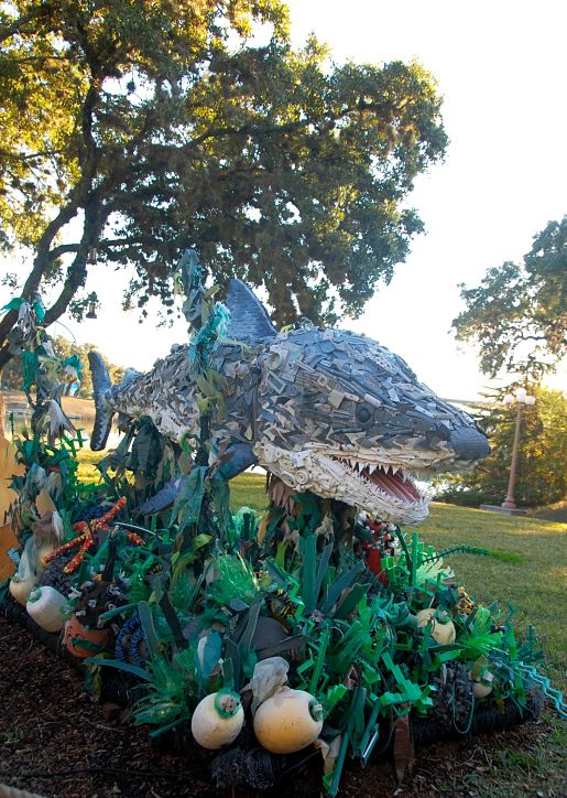 Recycled sculpture at Sea World, TX