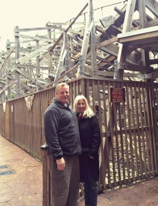 At the wooden rollercoaster Kemah, TX