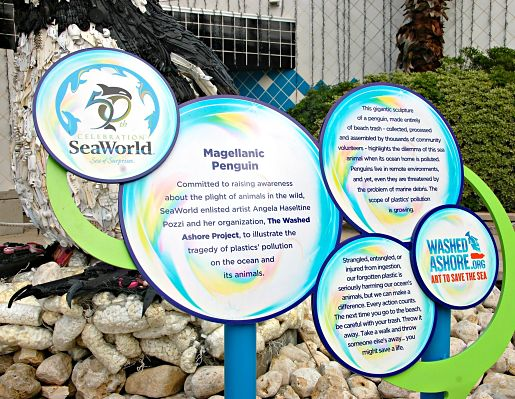 Washed Ashore project Sea World, TX