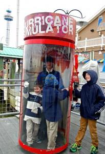Kemah Boardwalk hurricane simulator