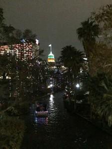 The Riverwalk at night