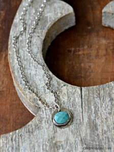 Petite turquoise sterling silver necklace by Cindy Wimmer